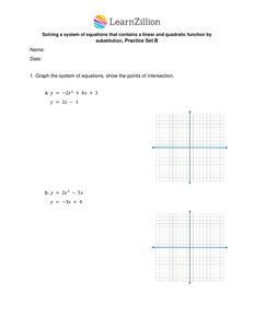 Solve a system of equations that contains a linear and